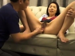 Japanese hairy twat fingering