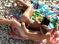 Voyeur At Beach