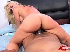 Busty Pornstar Oral With Cumshot