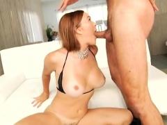 Redhead milf rough sex with cumshot