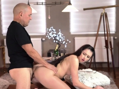 Old4k. Sugar Daddy Licks Teen's Pussy Before Inserting...