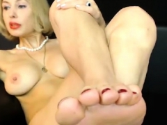 Hot Blonde Goes Along With His Foot Fetish