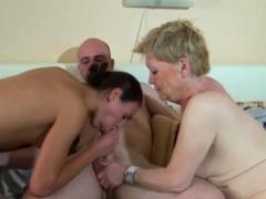 Old Nanny Has A Fuck In Ffm Threesome