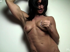 Shy Sexy Female Bodybuilder Shows Her Big Clit