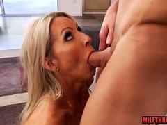 Big tits milf sex and facial