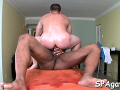 Twink Is Giving A Blow Job Stimulation For Gay Masseur
