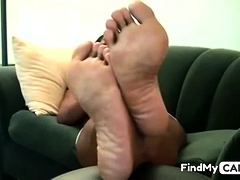 Big Black Dalit-dravidian Woman Shows Her Huge Madrasan Feet