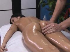 Lewd young brunette honey Tia Cyrus in erotic scene