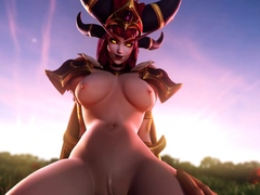 3D Beautiful Heroes from Games Getting Fucked and Creampied
