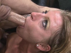 Blonde Choking And Gagging On A Brutal Face Fucking