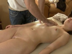 Massage session for lewd beautiful girl