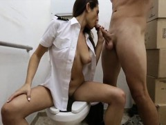 Hot latina stewardess pawns her pussy and got fucked