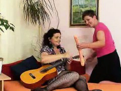 Old shorthaired woman lesbian action in addition to other